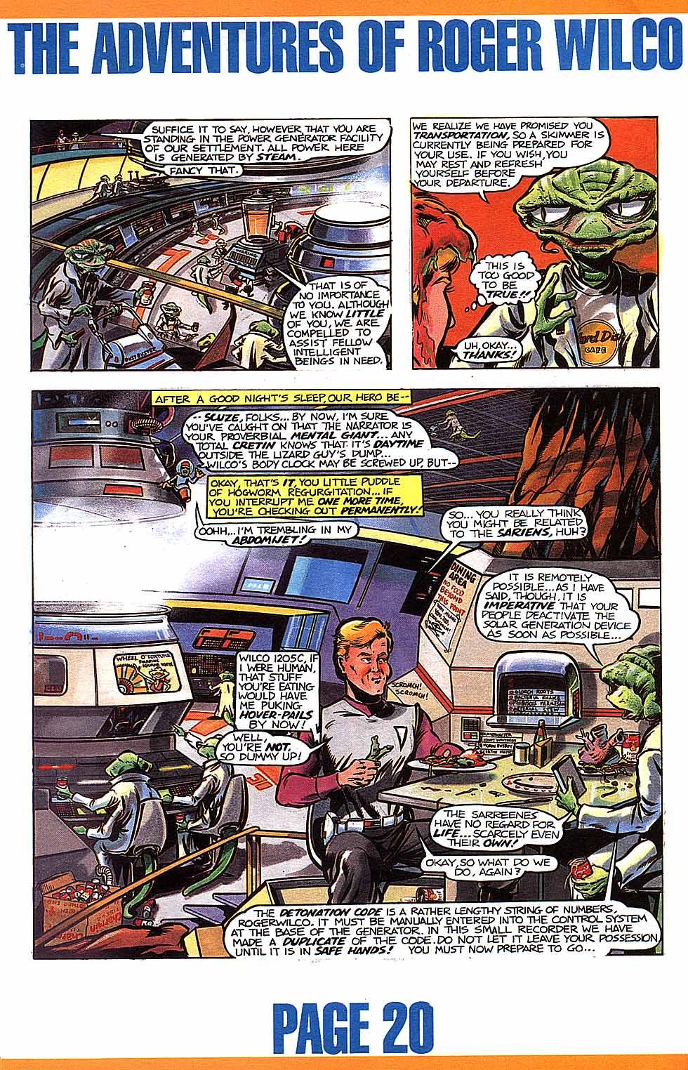 SpaceQuest.Net - Roger Wilco Comics on
